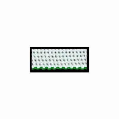 Aida Band 50mm White / Green Trim (7107.166) /m