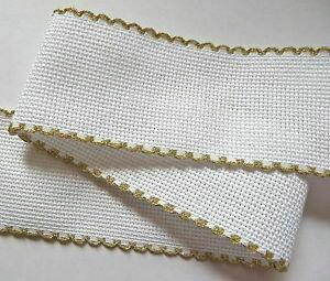 Aida Band 50mm White / Gold Trim (7101.181) /m