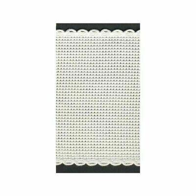 Aida Band 80mm White / White Trim (7008.1) /m