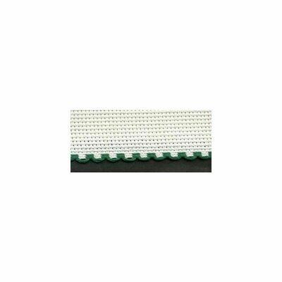 Aida Band 30mm White / Green Trim (7003.166) /m