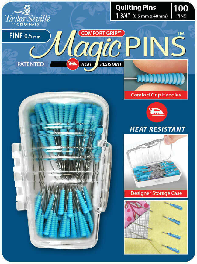 Taylor Seville Magic Pins Quilting FINE 50pc