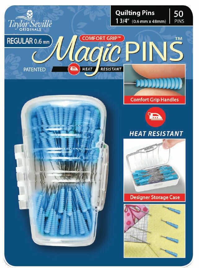 Taylor Seville Magic Pins Quilting REGULAR 100pc