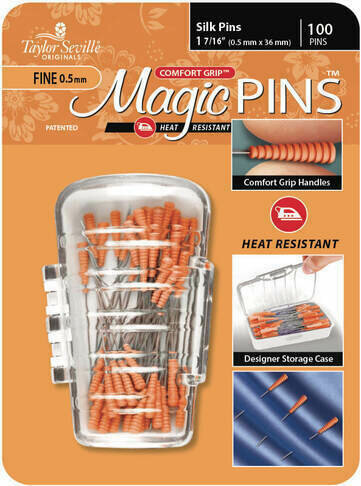 Taylor Seville Magic Pins Silk FINE 50pc