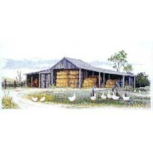 Country Cross Stitch Pattern - Hay Shed (FJ-1020)