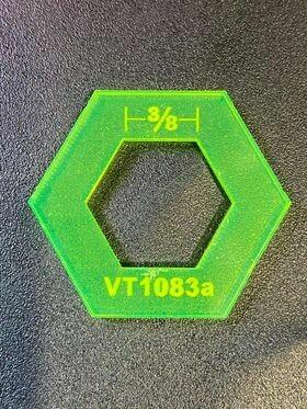 """Template Hexagon Donut - 3/8"""" (VT1083a)"""