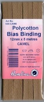 Bias Binding 12mm - Camel