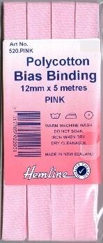 Bias Binding 12mm - Pink