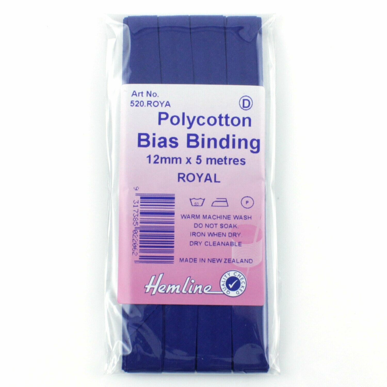 Bias Binding 12mm - Royal Blue