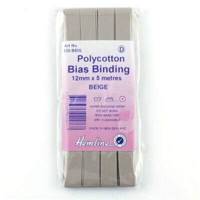 Bias Binding 12mm - Beige
