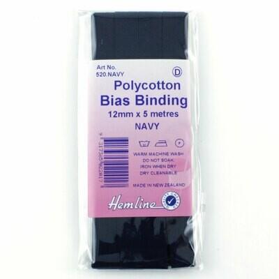 Bias Binding 12mm - Navy Blue