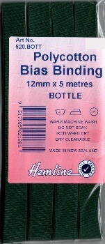 Bias Binding 12mm - Bottle Green