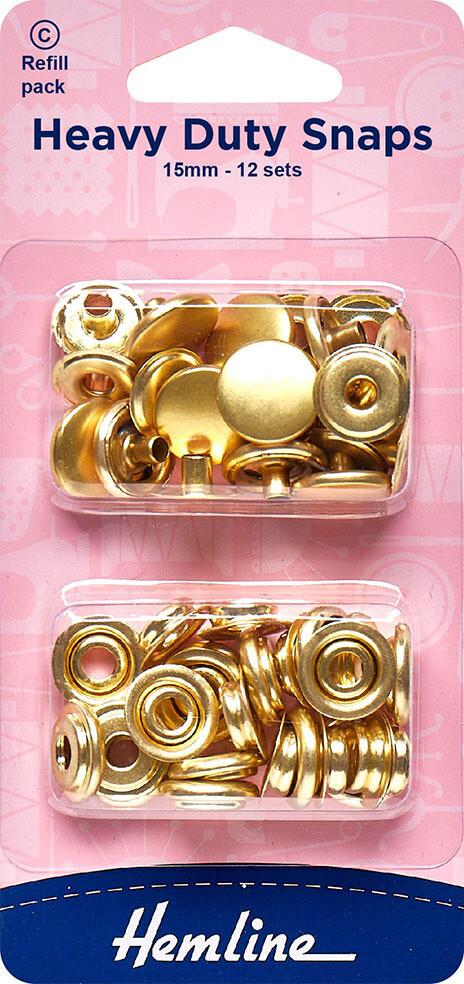 Fashion Snaps 11mm (20set/pkt) Gold