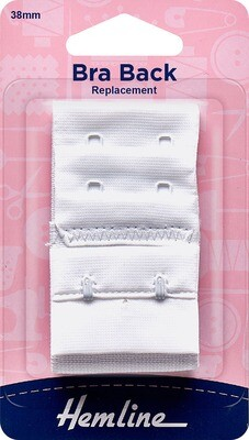 Bra Back Replacement 38mm - White (770.38.W)