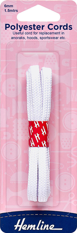 Cord Polyester 1.5m - White (683)