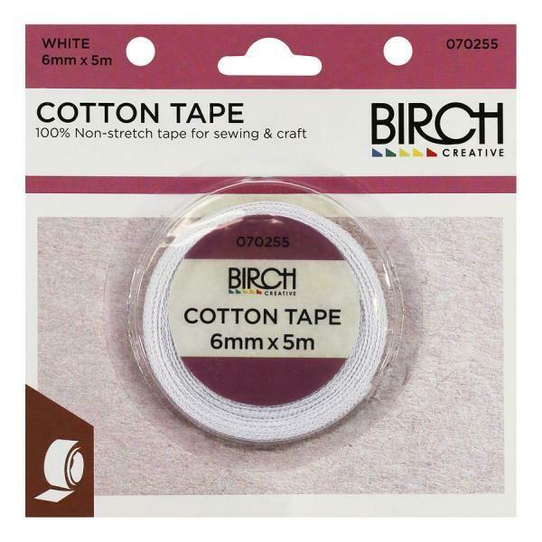 Birch Cotton Tape 6mm - White (070255)