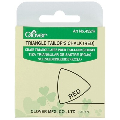 Clover Triangle Tailor's Chalk - Red (432/R)