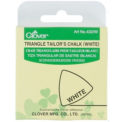 Clover Triangle Tailor's Chalk - White (432/W)