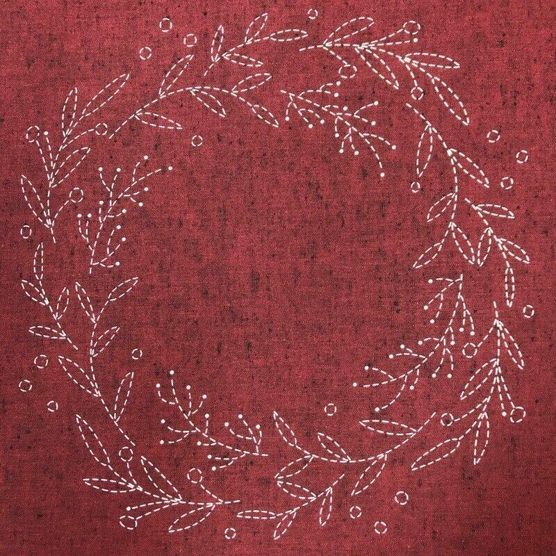 Sashiko Wreath Pattern with Instructions (SPCW)