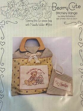 Beary Cute Sewing Bag with Needle Holder