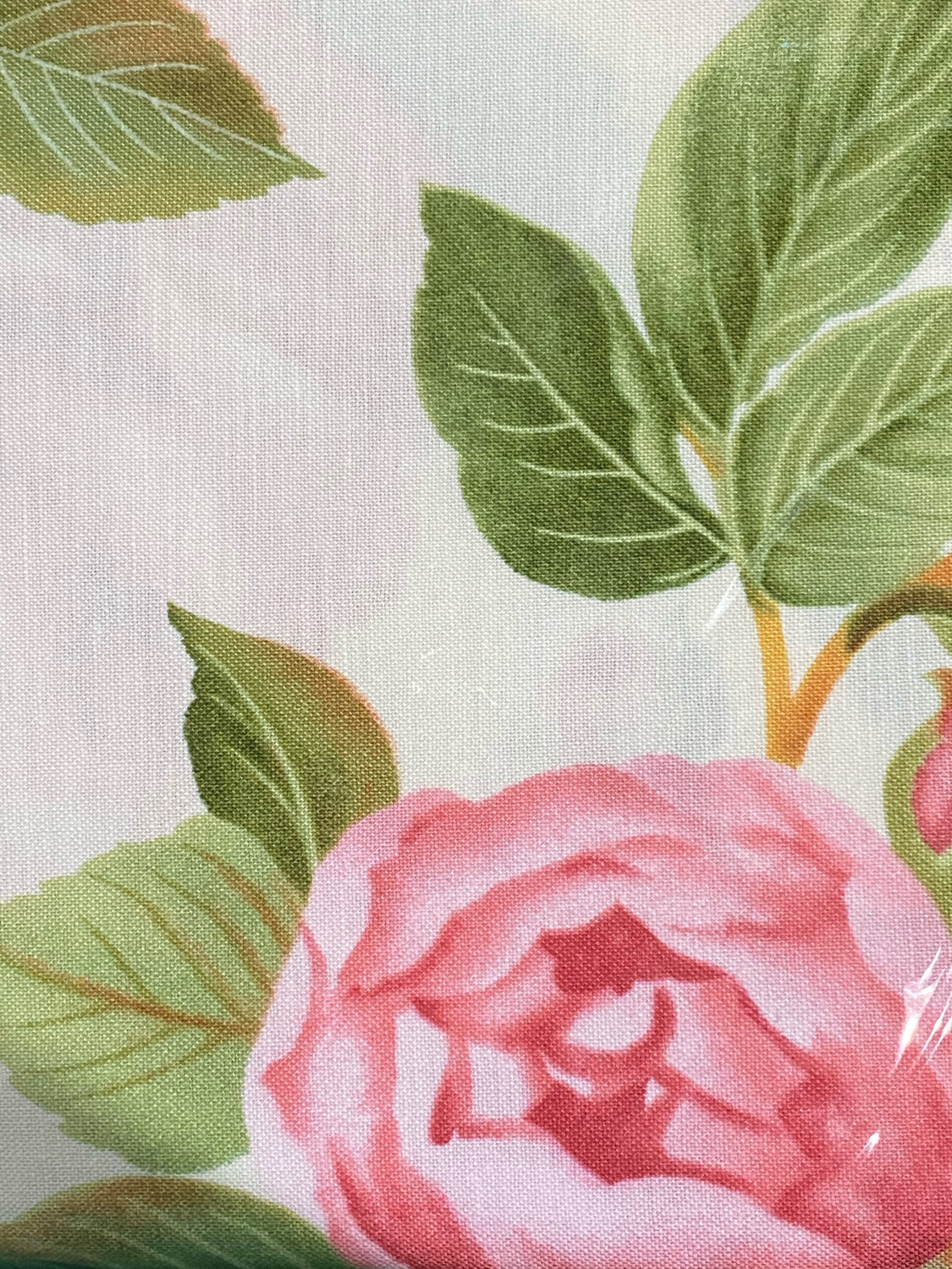 Pink Floral Print Fabric FQ