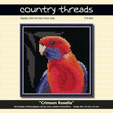 Country Threads Tapestry Mini Kit - Crimson Rosella (FTK-004)