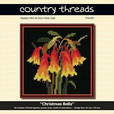 Country Threads Tapestry Mini Kit - Christmas Bells (FTK-007)