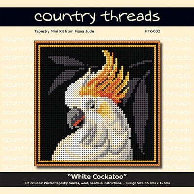 Country Threads Tapestry Mini Kit - White Cockatoo (FTK-002)