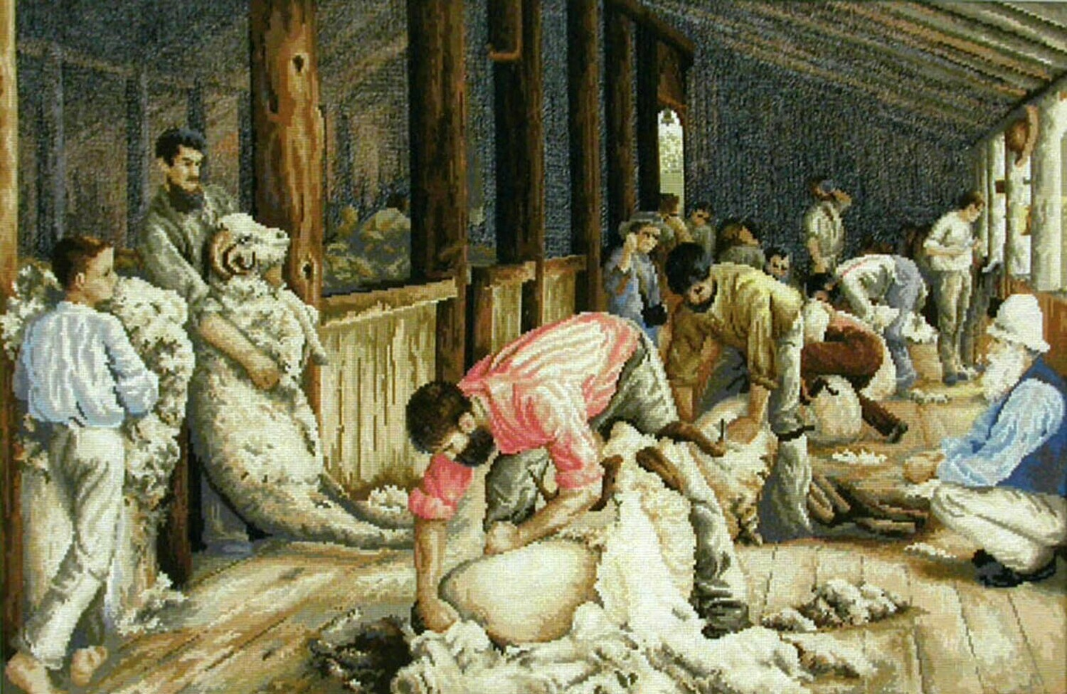 Country Threads Tapestry - Shearing The Rams (TFJ4003)