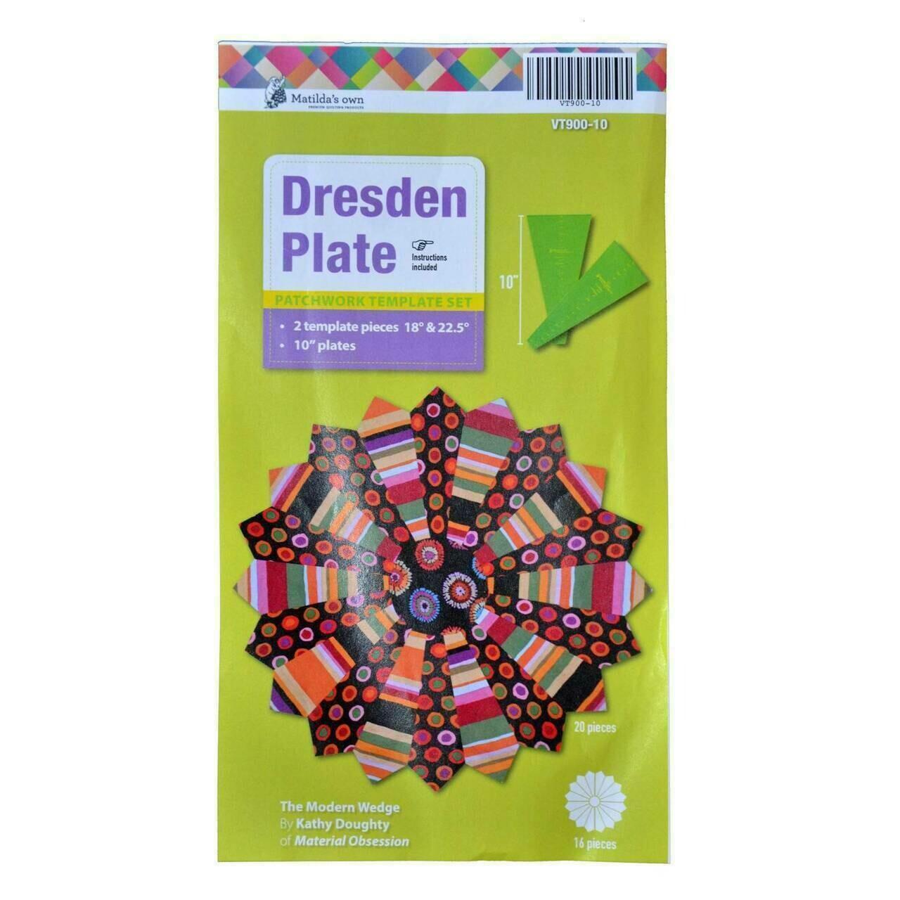 """Matilda's Own Dresden Plate Set 2pk 10"""" (VT900-10)"""