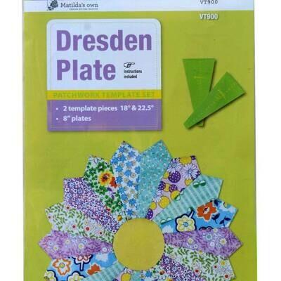 """Template Set Dresden Plate 8"""" 2pc (VT900)"""