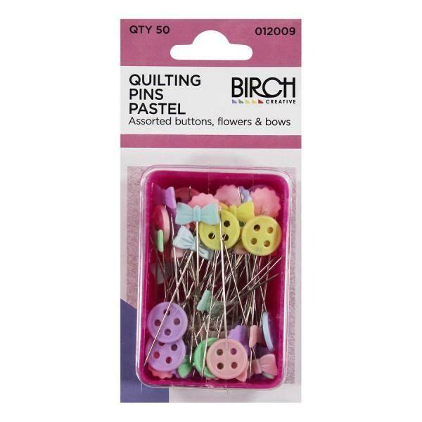 Birch Quilting Pins - Pastel 50pc (012009)