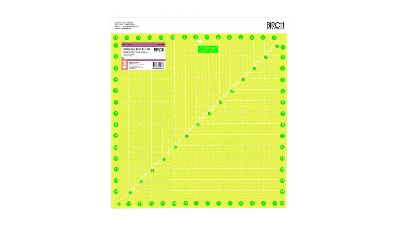 "Birch Quilt Fluoro Square Ruler - 15.5"" (020545)"