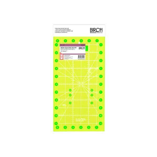 """Birch Quilt Fluoro Ruler - 6.5""""x12"""" (020547)"""