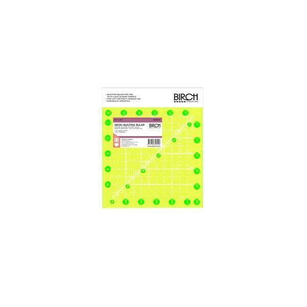 "Birch Quilt Fluoro Square Ruler - 6.5"" (020542)"