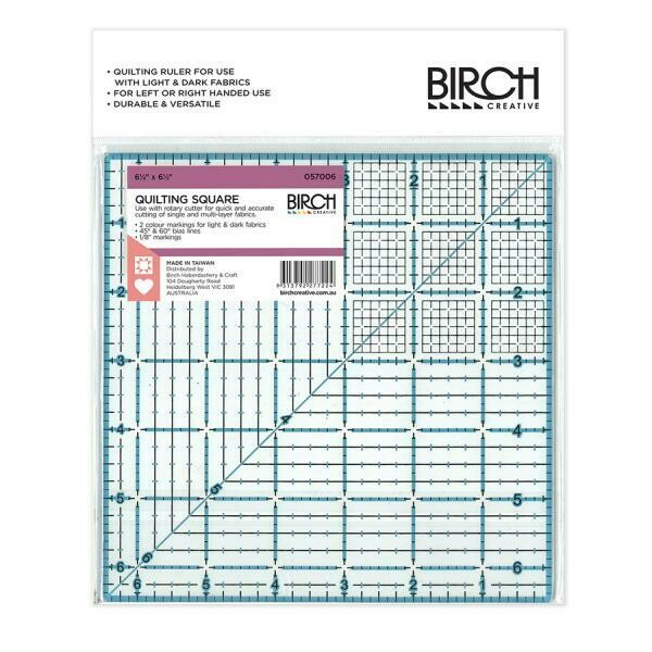 """Birch Quilt Square Ruler - 6.5"""" (057006)"""