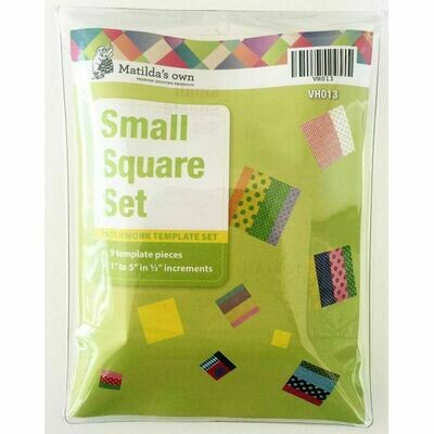 "Template Set Square (1.0""-5.0"") 9pc - Sml (VH013)"