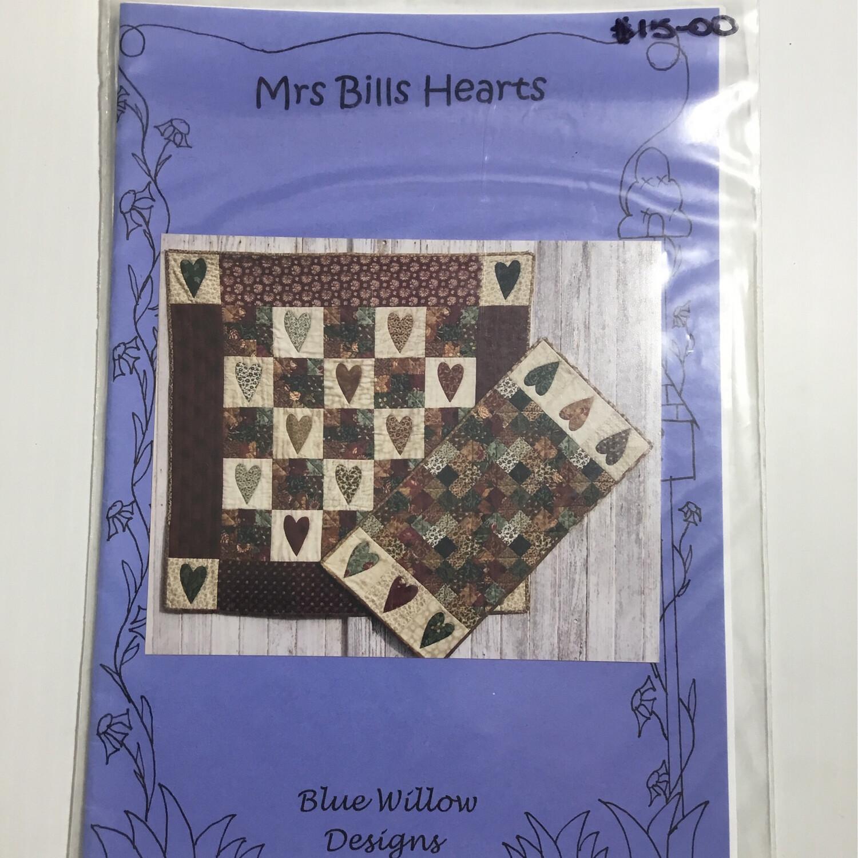 Blue Willow Designs - Mrs Bills Hearts