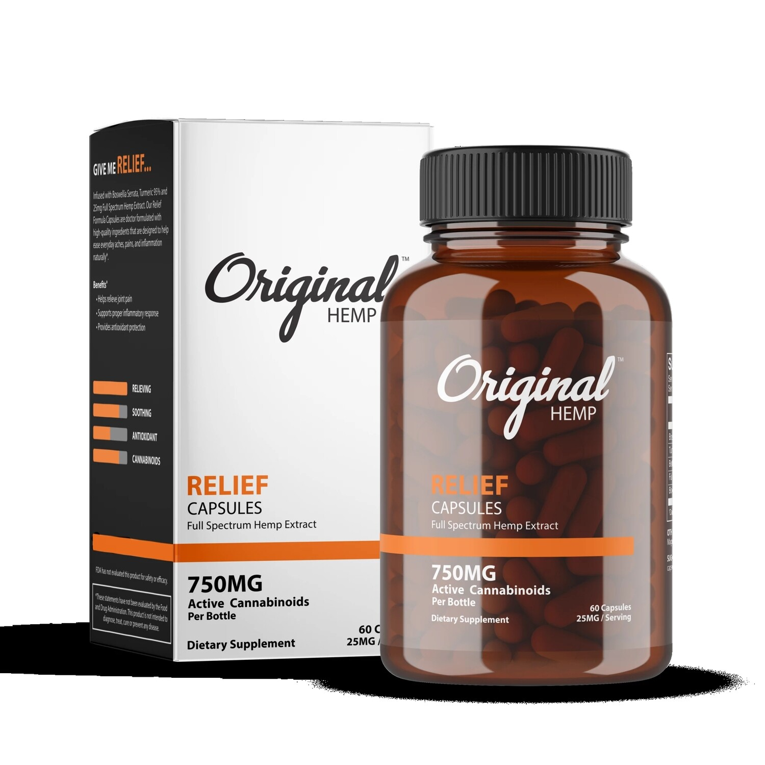 Original Hemp Relief Capsules 750mg 60ct