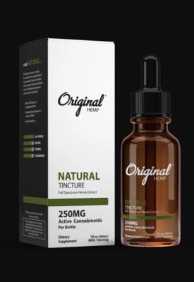Original Hemp Natural 250mg Tincture (30ml)