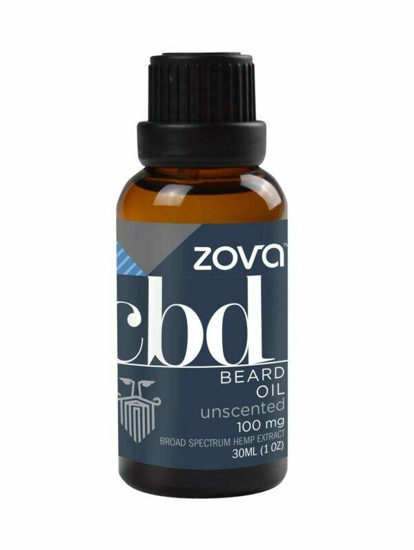 Zova Unscented 100mg CBD Beard Oil (30ml)