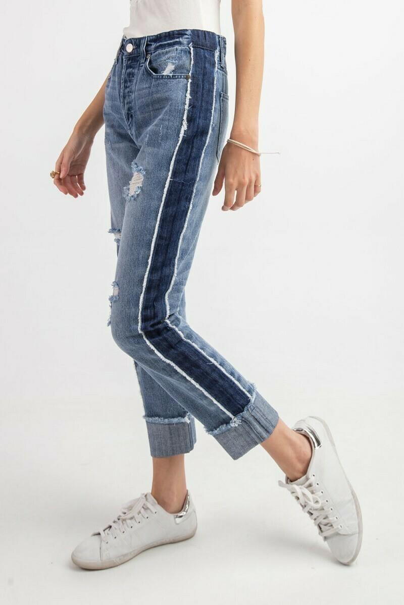 Deconstructed Boyfriend Jeans