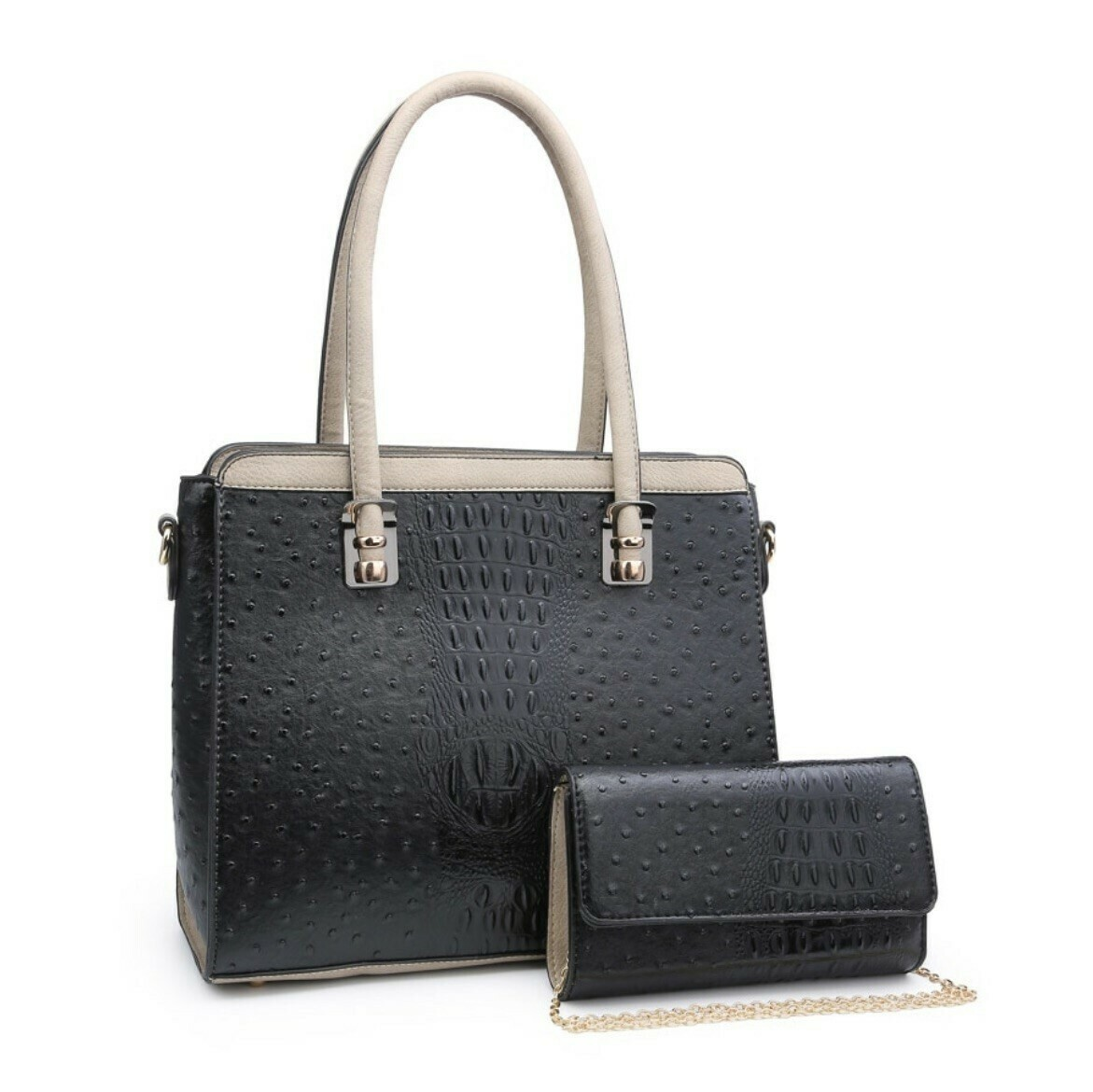 Kenzie Textured Satchel Set