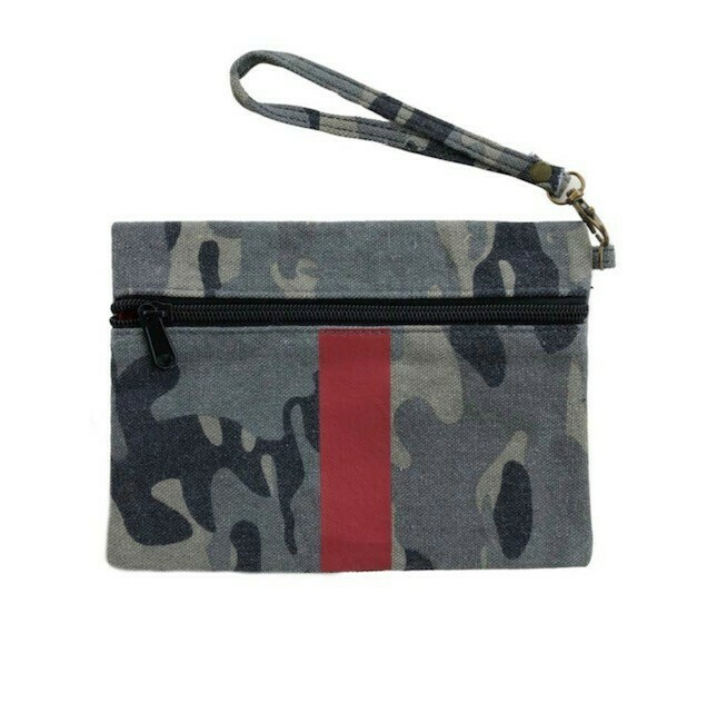 Canvas Camo Clutch