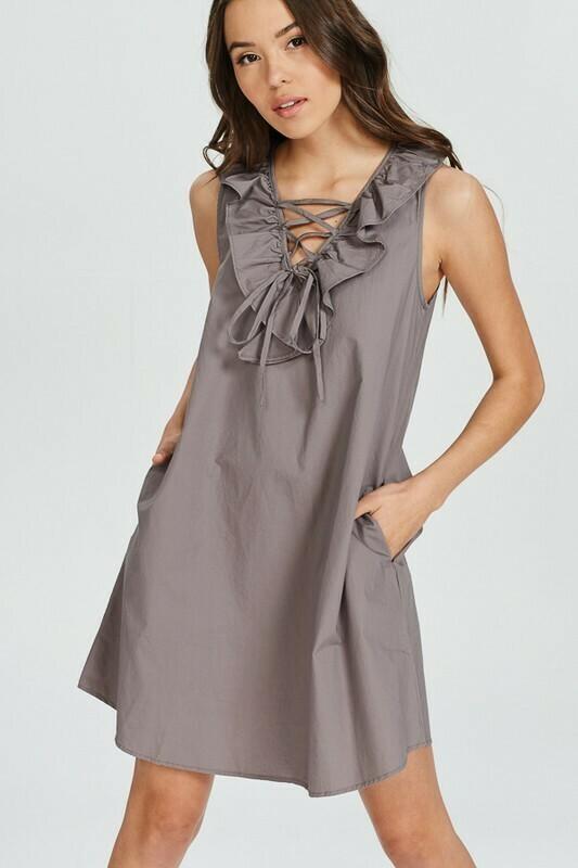 Sleeveless Cotton Mini Dress