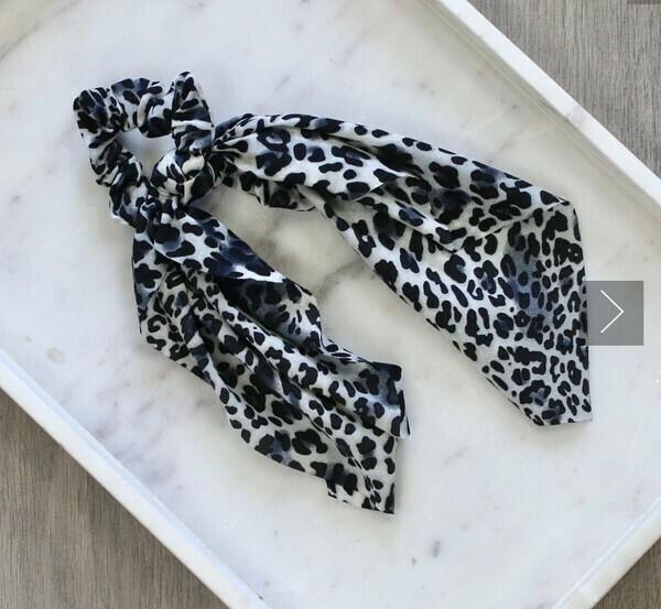 Leopard Hair Tie Scrunchie