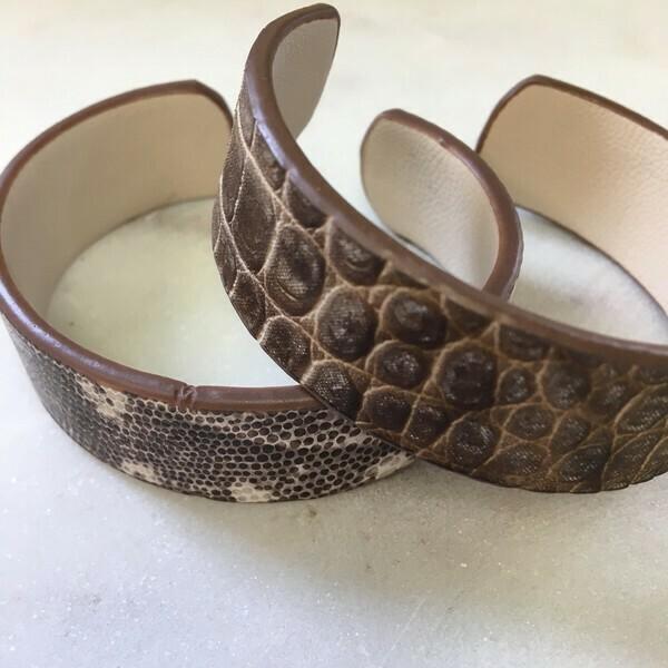 Italian Leather Adjustable Cuff