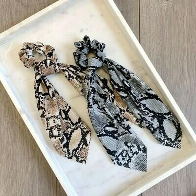 Hair Tie Scrunchie - Snake Skin Pattern