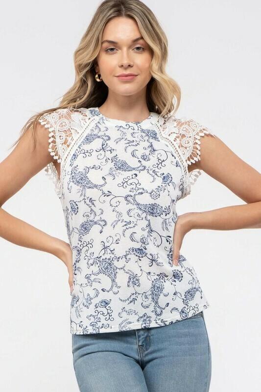Romantic Lace Cap Sleeve Top