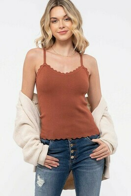 Sweater Cami with Scalloped Edge