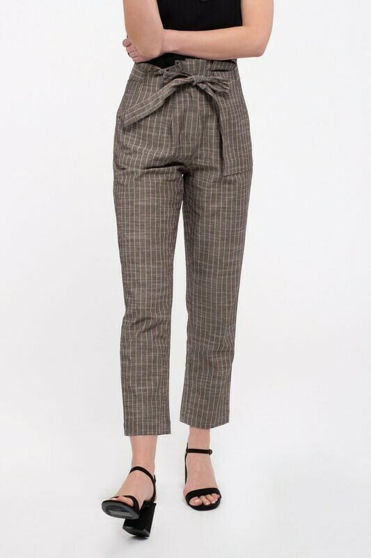 Woven Pinstriped Pants